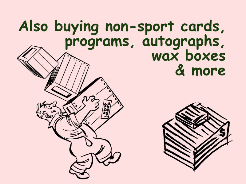 Buying non-sport cards, programs, autographs, wax boxes & more